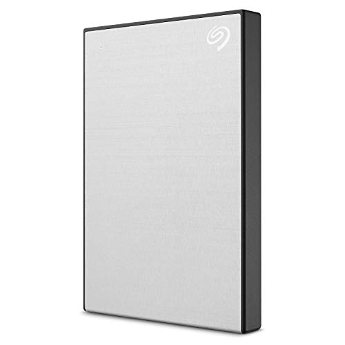 Seagate Backup Plus Slim 2TB External Hard Drive Portable HDD – Silver USB 3.0 For PC Laptop And Mac, 1 year Mylio Create, 2 Months Adobe CC Photography (STHN2000401)