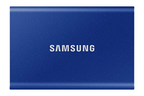 SAMSUNG T7 Portable SSD 1TB - Up to 1050MB/s - USB 3.2 External Solid State Drive, Blue (MU-PC1T0H/AM)