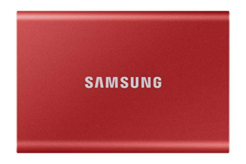 SAMSUNG T7 Portable SSD 1TB - Up to 1050MB/s - USB 3.2 External Solid State Drive, Red (MU-PC1T0R/AM)