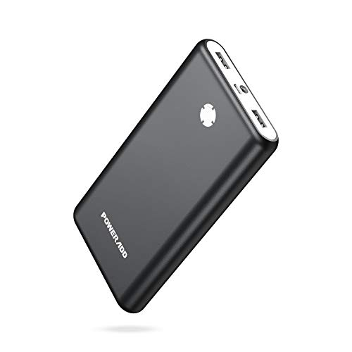 POWERADD [Upgraded] Pilot X7 20000mAh Portable Charger, Dual 3.1A Output External Power Bank with LED Flashlight, Compatible with iPhone, iPad, Samsung Galaxy and More - Dark Grey