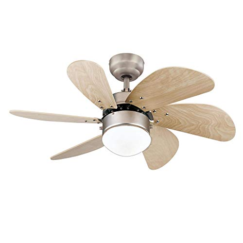 Westinghouse Lighting 7224000 Turbo Swirl Indoor Ceiling Fan with Light