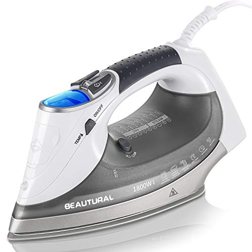 BEAUTURAL 1800-Watt Steam Iron with Digital LCD Screen