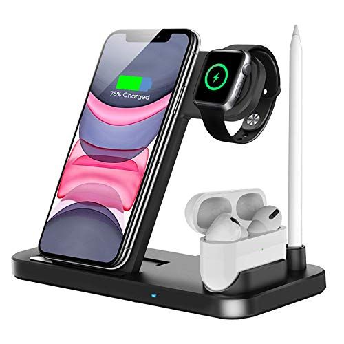 QI-EU Wireless Charger, 4 in 1 Qi-Certified