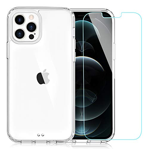 EasyAcc Clear Case for iPhone 12 Pro Max with Screen Protector