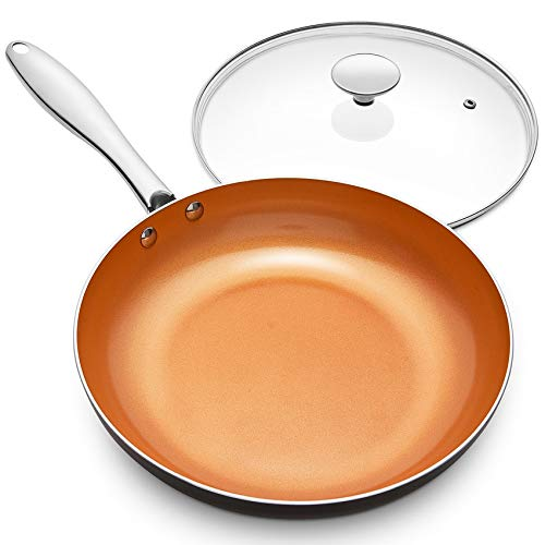 MICHELANGELO 12 Inch Frying Pan with Lid