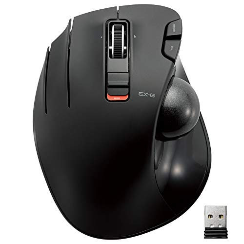 ELECOM Left-Handed 2.4GHz Wireless Thumb-operated Trackball Mouse