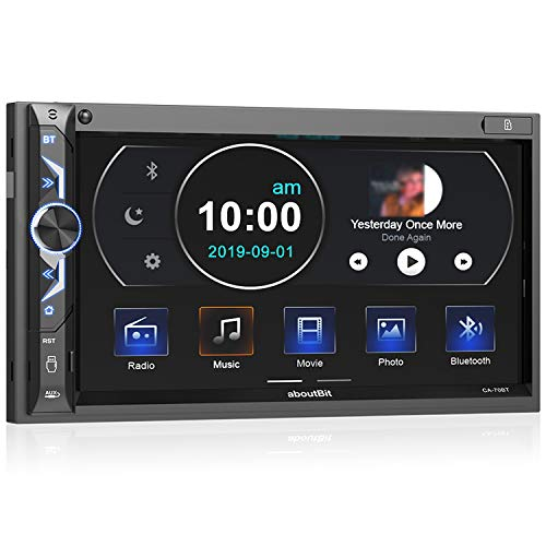 aboutBit Bluetooth 5.0 Touch Screen Car Radio