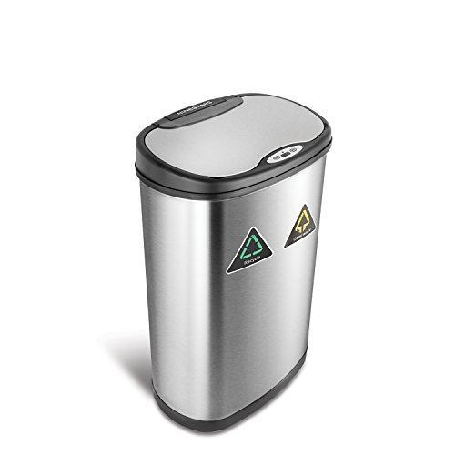 NINESTARS DZT-50-13R Automatic Touchless Infrared Motion Sensor Trash Can