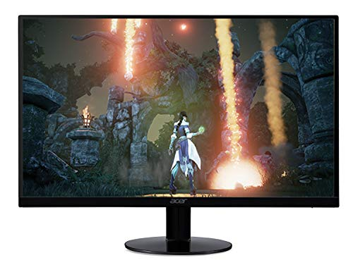 Acer SB230 Bbix 23' Full HD (1920 x 1080) IPS Ultra-Thin Zero Frame Monitor with AMD Radeon FREESYNC Technology - 1ms | 75Hz Refresh (HDMI & VGA ports), Black