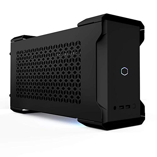 Cooler Master MasterCase NC100 SFF Small Form Factor 7.9 Liter Case with V650 SFX Gold PSU, GPUs 2.5 Slots up to 320mm for Intel(r) NUC 9 Extreme Element, Black