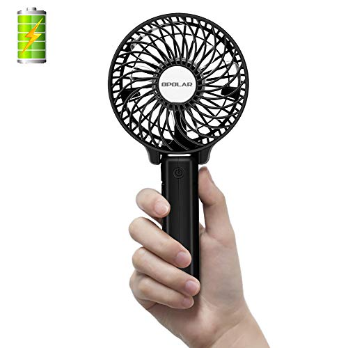 OPOLAR Handheld Portable Battery Operated Rechargeable USB Fan