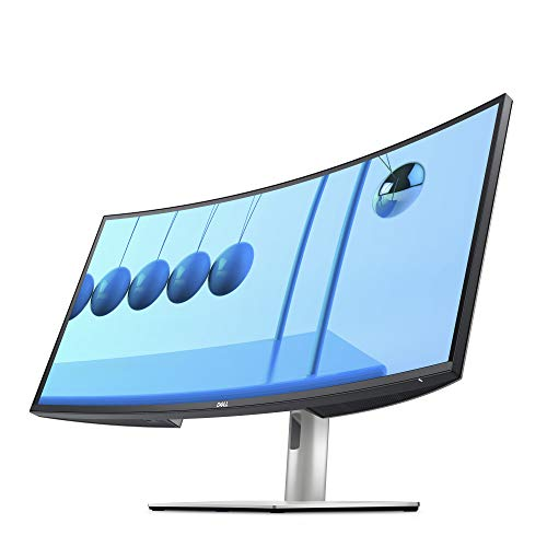 Dell U3421WE UltraSharp Curved Monitor, 34.14 Inch Ultrawide Monitor WQHD (3440 x 1440p at 60Hz), in-Plane Switching Technology, 100mmx100mm VESA Mounting Support, Platinum Silver (Latest Model)