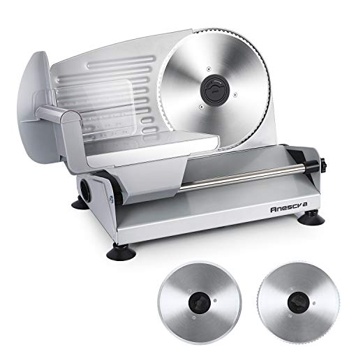 Meat Slicer, Anescra 200W Electric Deli Food Slicer