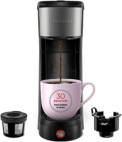 Chefman InstaCoffee Single Serve Coffee Maker Compatible with K-Cup Pods