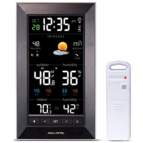 AcuRite Vertical Color Weather Station with 24 Hour Future Forecast