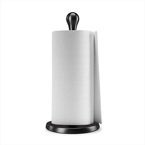 Umbra Tug Modern Stand Up Paper Towel Holder – Easy One-Handed Tear Kitchen Paper Towel
