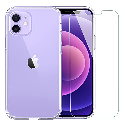 EasyAcc Clear Case for iPhone 12/12 Pro with Screen Protector