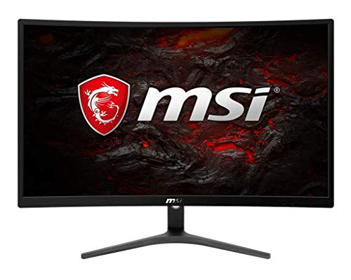 MSI Full HD FreeSync Gaming Monitor 24' Curved Non-Glare 1ms LED Wide Screen 1920 X 1080 75Hz Refresh Rate (Optix G241VC)