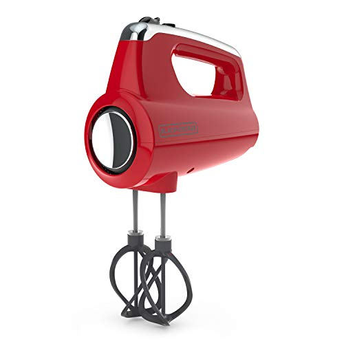Black+Decker MX600R Helix Performance Premium Hand, 5-Speed Mixer, Red, small