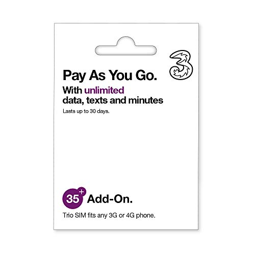 UK Three Pay As You Go Unlimited Data