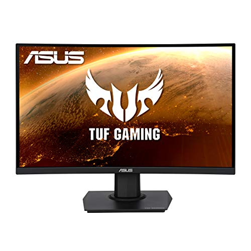 ASUS TUF Gaming 23.6' 1080P Curved Monitor (VG24VQE) - Full HD, 165Hz, 1ms, Extreme Low Motion Blur, Speaker, Adaptive-Sync, FreeSync Premium, Shadow Boost, VESA Mountable, DisplayPort, HDMI