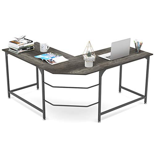 Elephance 59 Inch Large L Shaped Desk Corner Computer Desk