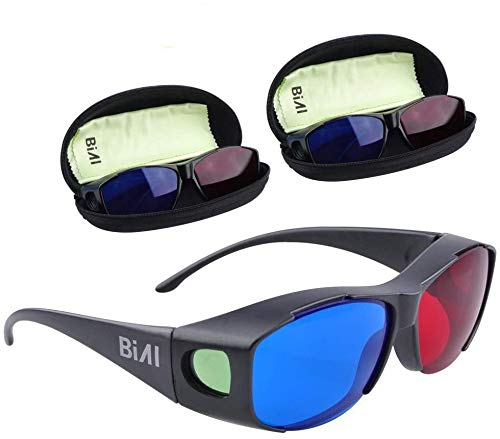 BIAL 3 Pack Red-Blue 3D Glasses