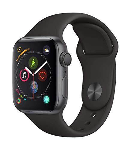 AppleWatch Series4 (GPS, 40mm) - Space Gray Aluminum Case with Black Sport Band