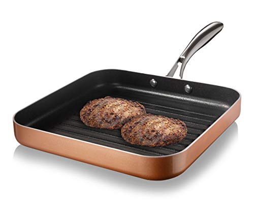 Gotham Steel Nonstick Grill Pan for Stovetops