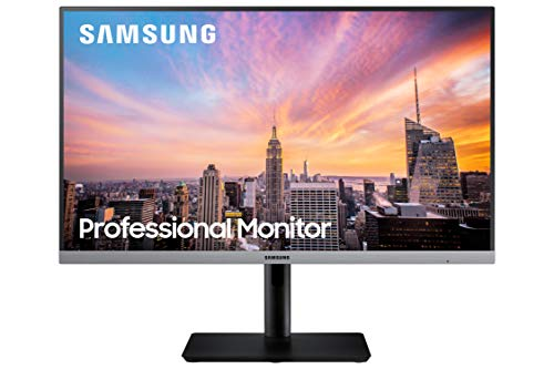 SAMSUNG Business S24R650FDN SR650 Series 24 inch IPS 1080p 75Hz Computer Monitor for Business with VGA, HDMI, DisplayPort, and USB Hub, 3-Year Warranty, Black