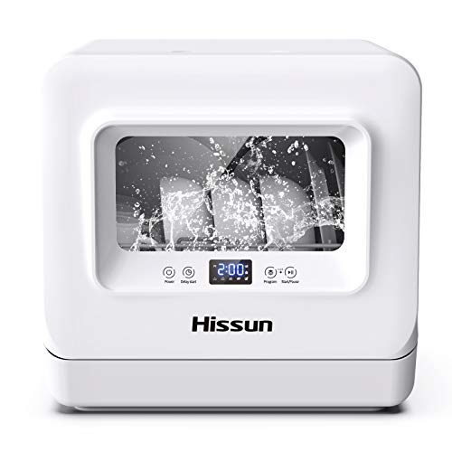HISSUN Compact Portable Countertop Dishwasher