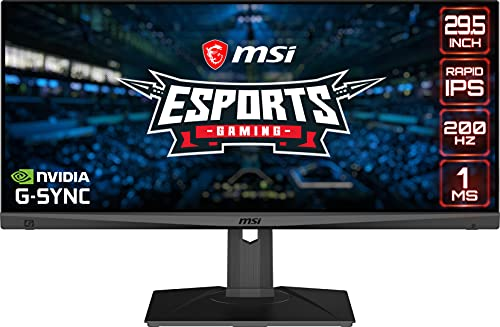 """MSI Full HD Rapid-IPS 1ms 2560 x 1080 Ultra Wide 200Hz Refresh Rate HDR Ready G-Sync Compatible 30"""" Gaming Monitor (Optix MAG301RF)"""