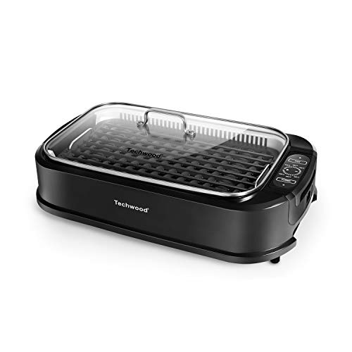 Indoor Grill Electric Grill, Techwood Indoor Smokeless Grill