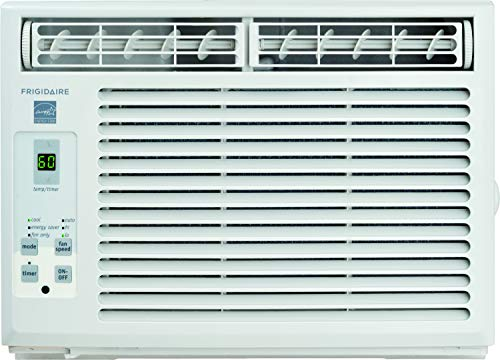Frigidaire 5,000 BTU 115V Window-Mounted Mini-Compact Full-Function Remote Control Air Conditioner, 5000, White