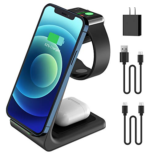 JoyGeek 3 in 1 Wireless Charger, Qi Fast Charging