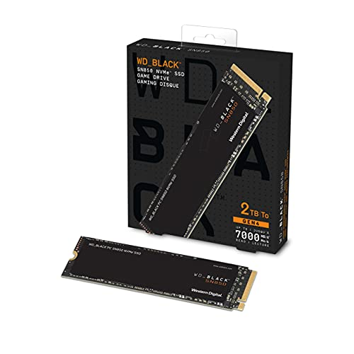 Western Digital WD Black SN850 NVMe M.2 2280 2TB PCI-Express 4.0 x4 3D NAND Internal Solid State Drive (SSD) for Laptops and Desktops - 3D NAND Technology, 7000MB/s - WDS200T1X0E