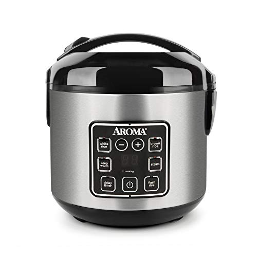 Aroma Housewares 2-8-Cups (Cooked) Digital Cool-Touch Rice Grain Cooker