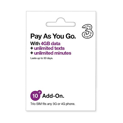 Three Pay As You Go Unlimited (30 Days)