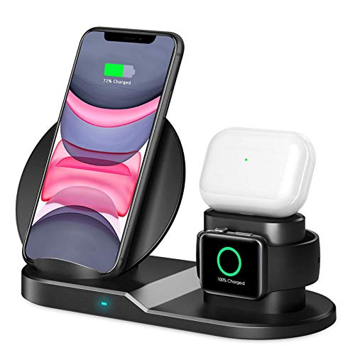 QI-EU Wireless Charger 3 in 1 Wireless Charging Station with iWatch