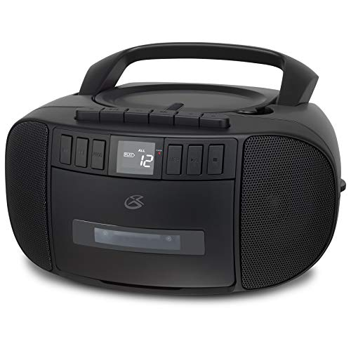 GPX BCA209B Portable Am/FM Boombox with CD and Cassette Player