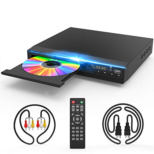 DVD Player for TV, DVD CD Player with HD 1080p Upscaling