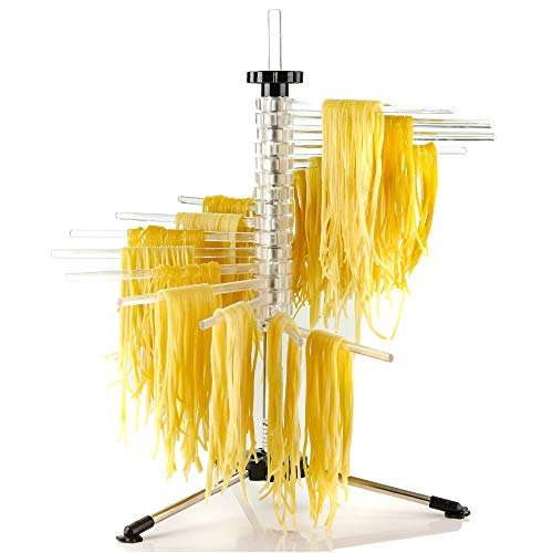 Ovente Collapsible Pasta Drying Rack with BPA-Free Acrylic Rods