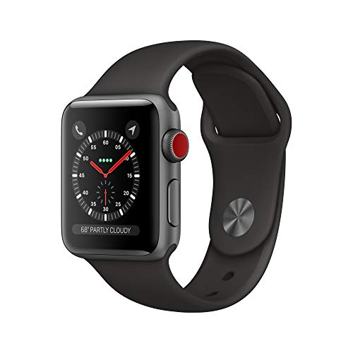 AppleWatch Series3 (GPS+Cellular, 38mm) - Space Gray Aluminum Case with Black Sport Band
