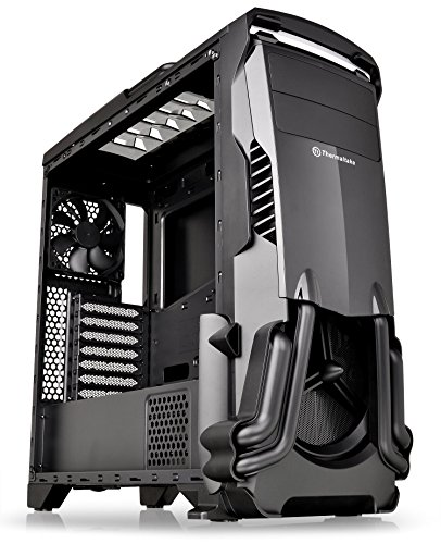 Thermaltake Versa N24 Black ATX Mid Tower Gaming Computer Case Chassis with Power Supply Cover, 120mm Rear Fan preinstalled CA-1G1-00M1WN-00
