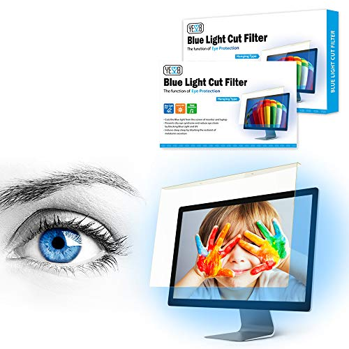 YES2B Universal 30-32 inch Easy On/Off Acrylic Anti Blue Light Filter for Laptop, Notebook, Frame Hanging Type, Eye Protection, Hard Coating, Screen Protector, Clear View for Widescreen 16:9, 16:10