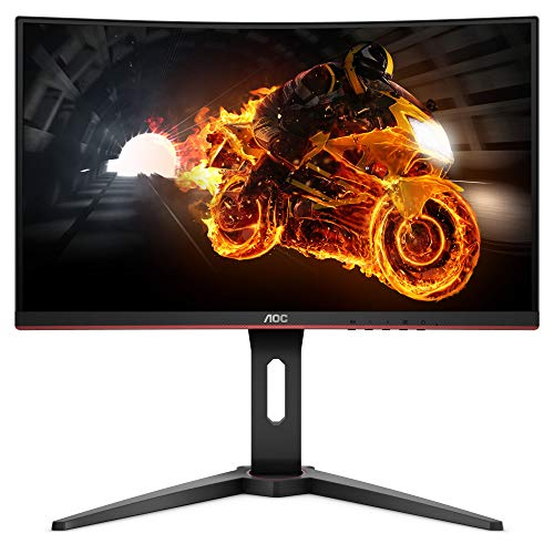 AOC C24G1 24' Curved Frameless Gaming Monitor, FHD 1080p, 1500R VA panel, 1ms 144Hz, FreeSync, Height adjustable, VESA, 3-Year Zero Dead Pixels Black