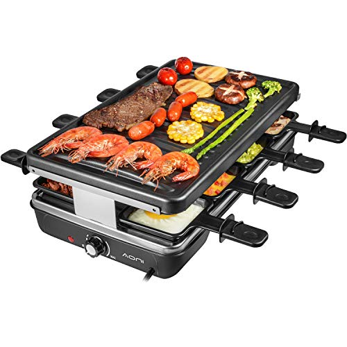 AONI Electric Raclette Grill Smokeless Party Grill