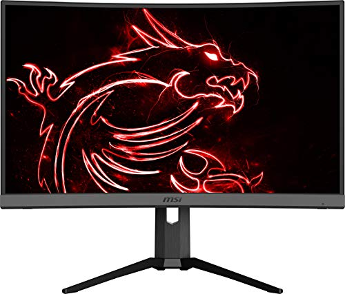 """MSI Non-Glare with Narrow Bezel 240Hz 1ms Height Adjustment 1500R Curvature AMD FreeSync HDMI/DP/USB HDR Ready 1920 x 1080 FHD 27"""" Gaming Monitor (Optix MAG272CRX), Black"""