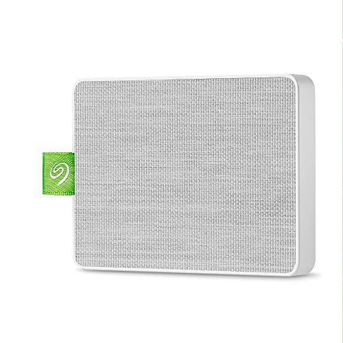 Seagate Ultra Touch SSD 1TB External Solid State Drive Portable - White USB-C USB 3.0 for PC MAC and Seagate Mobile Touch app for Android, Mylio, Adobe, & 3-Year Rescue Service (STJW1000400)