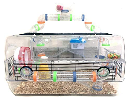 Large 3 Level Sparkle Clear Hamster Cage